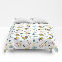 winter birds pattern Comforters