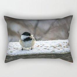 Hungry Little Chickadee Rectangular Pillow