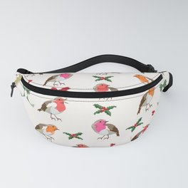 Christmas Robins pattern Fanny Pack