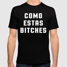 Como Estas Funny Quote Mens Fitted Tee Black X-LARGE