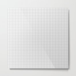 Gingham in Soft Gray Metal Print