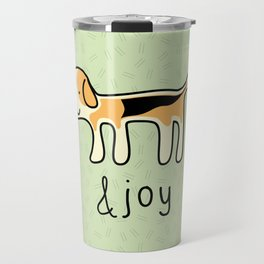 Cute Beagle Dog &joy Doodle Travel Mug