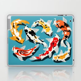 Colorful Koi Carps Swimming Around Laptop & iPad Skin