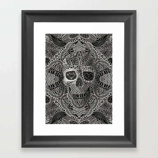 Lace Skull Framed Art Print
