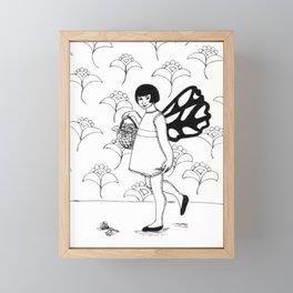 Fairy With Basket Framed Mini Art Print