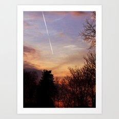 Sunset Streak Art Print