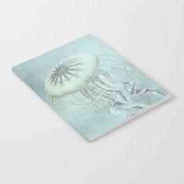 Jellyfish Underwater Aqua Turquoise Art Notebook