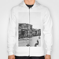 Along the Grand Canal b&w Hoody