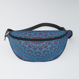 Geometric Circle Blue/Red Fanny Pack