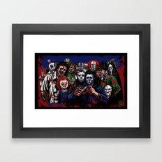 Horror Villains Selfie Framed Art Print