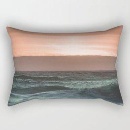 Perfect Ocean Sunset Rectangular Pillow