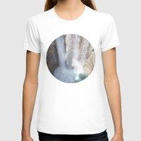 allyson johnson T-shirts featuring Johnson Canyon Waterfall by RMK Creative