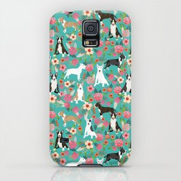 Bull Terrier dog breed pattern florals dog lover gifts pet friendly designs iPhone Case