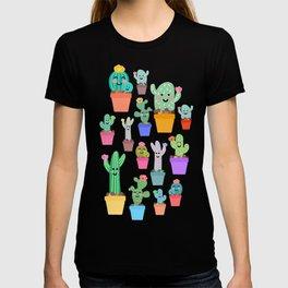 Sunny Happy Cactus Family T-shirt