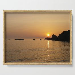 GOLDEN SUNSET CROOKLETS BEACH BUDE CORNWALL Serving Tray