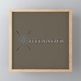 OUTLANDER SILVER Framed Mini Art Print