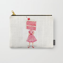 Cake Head Pin-Up - Cherry Carry-All Pouch