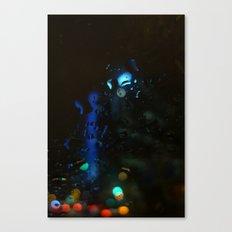 Barcelona, noche de lluvia Canvas Print