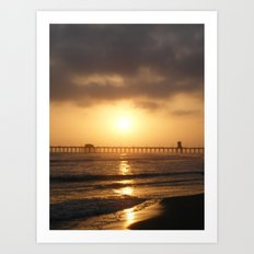 Ocean and Sun Art Print