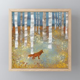 Autumn Fox Framed Mini Art Print