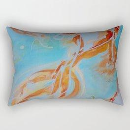 GoldFish Bubbles 1ne watercolor by CheyAnne Sexton Rectangular Pillow