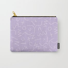 Scribbles on Lavender Carry-All Pouch