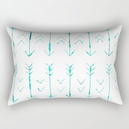Large Teal Arrows Rectangular Pillow