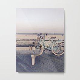 Bikes by the Beach - Asbury Park Metal Print