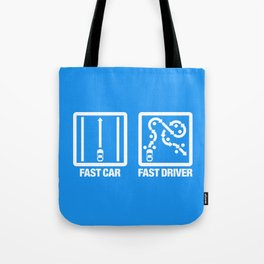 Fast Car - Fast Driver v4 HQvector Tote Bag