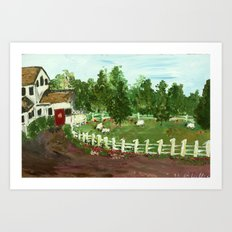 Ash Mill Farm Art Print