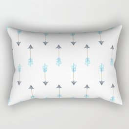 Blue Arrow Rectangular Pillow