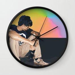 skatethruthenight ver 1 Wall Clock