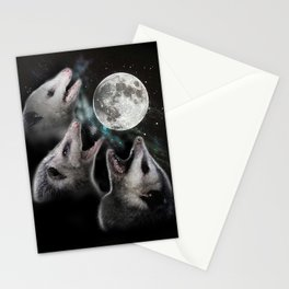 3 opossum moon Stationery Cards
