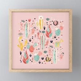 Pink Desert pattern Framed Mini Art Print