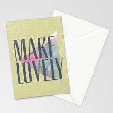 Make Lovely // Leaf Stationery Cards