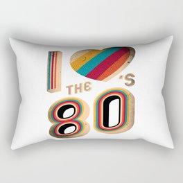 RETRO I LOVE THE 80'S VINTAGE Rectangular Pillow