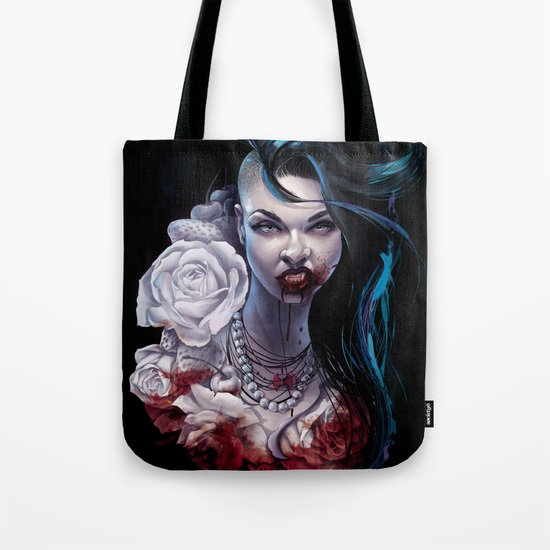 """Marceline  """"shades of red"""" Tote Bag"""