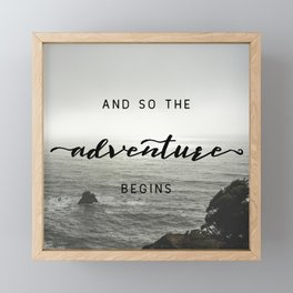 And So The Adventure Begins - Ocean Emotion Black and White Framed Mini Art Print
