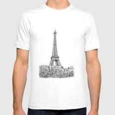 Another Eiffel Tower Photo White MEDIUM Mens Fitted Tee
