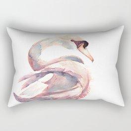 Swan Floating Away Rectangular Pillow