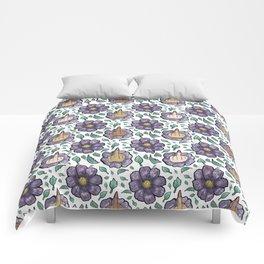 bad flower Comforters