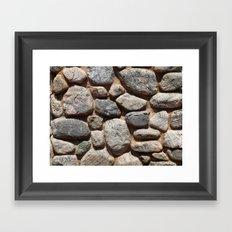 Textures - Rock Framed Art Print