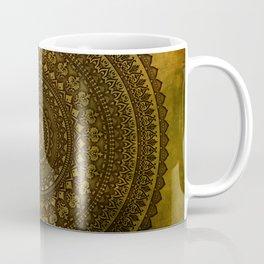 Lime Brown Mandala Coffee Mug