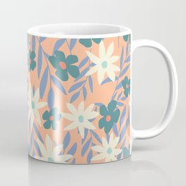 Just Peachy Floral Coffee Mug