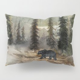 Mountain Black Bear Pillow Sham