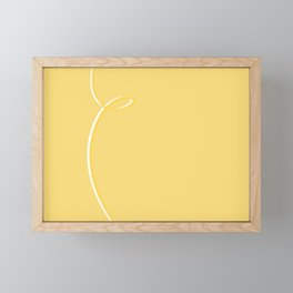 Pastel Yellow Abstract #yellow #ribbon #abstract #pastel #kirovair #unicolored #homedecor Framed Mini Art Print