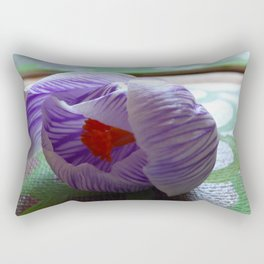 Over Crocus Rectangular Pillow