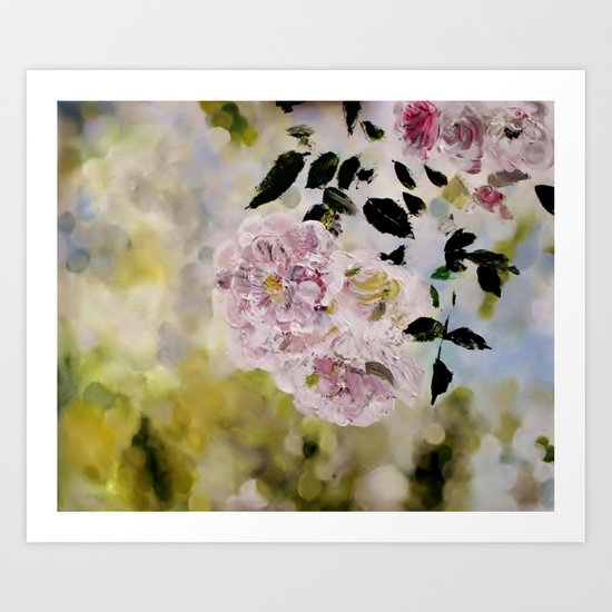 Rosy days Art Print