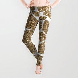 Glitter Giraffe Animal Print Pattern Leggings