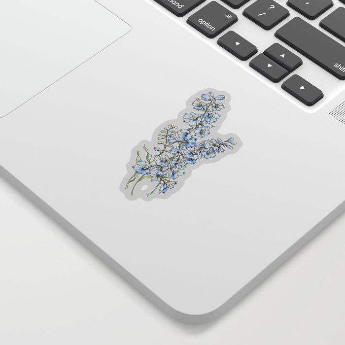 Blue Delphinium Flowers Sticker